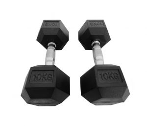 HEXRU RUBBER DUMBBELL